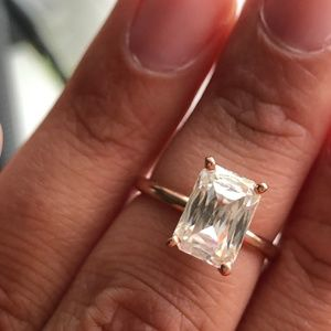 Unique Moissanite Engagement Ring